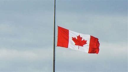 canadian flag half mast